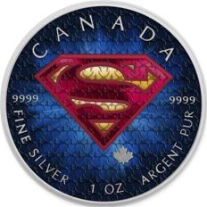 Canada - 5 Dollars 2016 'Superman' colored - 1 oz silver