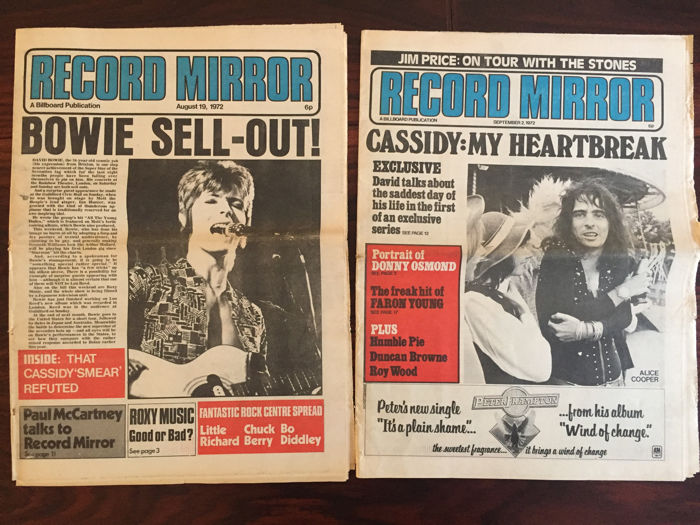 Record Mirror - UK popmagazines - lot with 52 unbound editions - 1972.