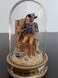 Limited Edition Hand-painted John Wayne Sculpture - Franklin Mint