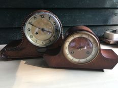 2 running mantel clocks - Orfac and Junghans - 1930s
