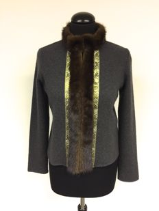 Etro - Angora cardigan with mink