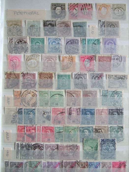 Portugal and colonies and Spain - 2,000 stamps with some duplicates