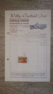 Jeep - original invoice from 1951 with seals and stamps