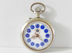 Nice antique Roskopf pocket watch with cartouche dial