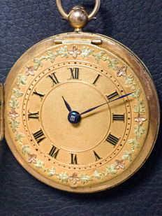 Esquivillon Freres Geneve - a verge fusee pocket watch - reserve price at scrap gold price - ca 1800