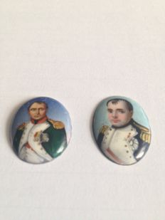NAPOLEON medallions - enamels on copper - 19th century