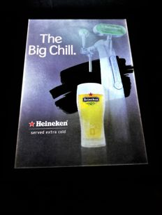 HEINEKEN glowing ad. The Big Chill. To suspend / place.