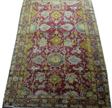 Antique Persian Floral Rug Carpet In Good Condition 6.7 x 4.1