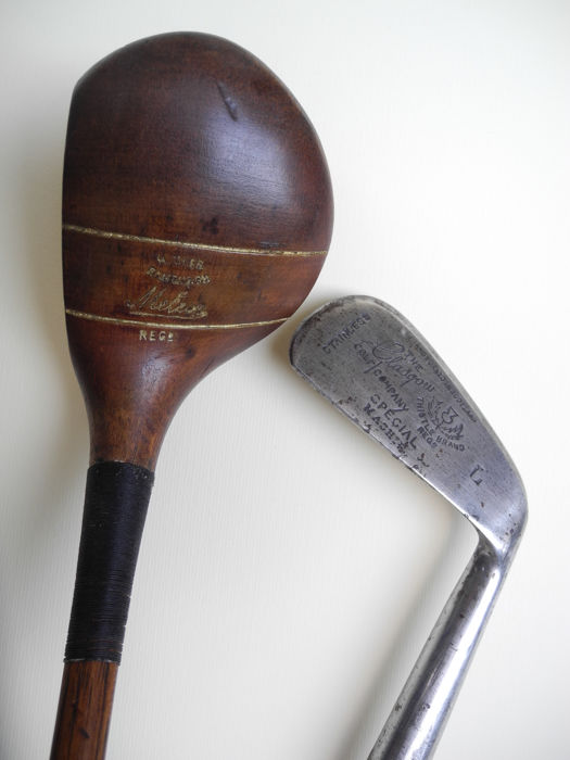 "Rare  Harry  Gibb ""Meteor"" patented Driver  and Collectable The Glasgow Golf Company  Mashie"