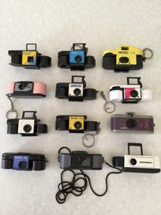 Collection of 12 Micro 110 cameras