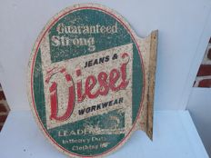 Double-sided Jeans & Diesel advertising sign - 1980