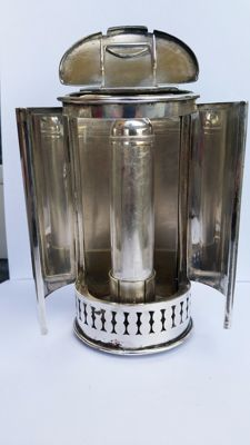 Silver plated wall sconce, 19th century, from a ship or train (Titanic?)