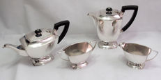 Fine Quality 4 Piece Tea Set - Pinder Brothers, England Late 19th Century