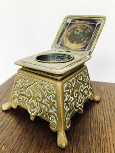 Decorated bronze Inkwell