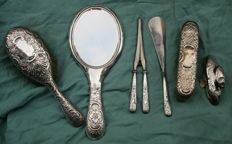 Silver dressing table set - James Dixon & Sons - Sheffield - ca. 1912