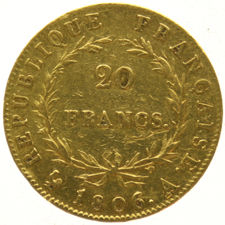France - 20 francs 1806A Napoleon - gold