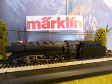 Märklin H0 - 3045.2 - Steam locomotive with tender, Series N of the DSB.