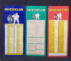 Michelin tyre pressure monitoring tables