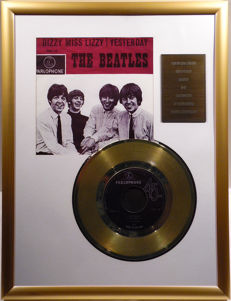 "The Beatles - Yesterday - 7"" Single Parlophone Records golden plated record Special Gold Edition"
