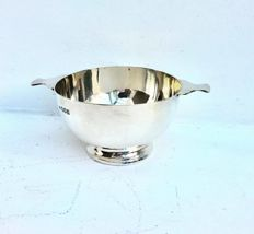 Edwardian sterling silver porringer bowl - Holland, Aldwinckle & Slater - London - 1912