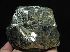 Huge Pyrite with Hematite, classic Italian locality collection - 13 x 10 x 10 cm - 2470 g