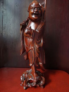 Redwood buddha statue - China - ca. 1900 (late Qing Dynasty)