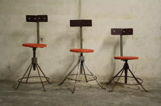 Producer unknown – set of three industrial chairs