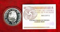 Spain - Juan Carlos I - 10 silver euros World Champions, South Africa - 2010 - Proof with certificate