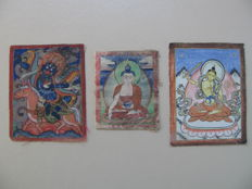 Three Tsagli, Lhamo, Buddha Sakyamuni, Manjusri – Tibet/Mongolia – 19th and beginning of 20th century