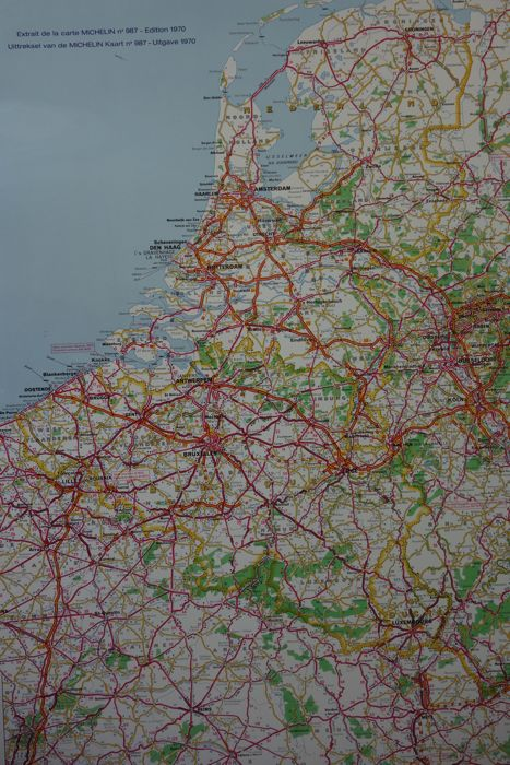 Road Map Of Germany 2017.Michelin Road Map Western Europe West Germany Belgium