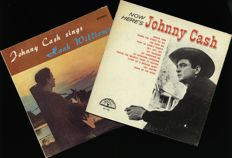 "Johnny Cash on SUN records - This lot includes ""Now here's Johnny Cash (1961)"" and ""Johnny Cash sings Hank Williams"""