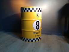 Ferrari / Agip / Pirelli - Barrel / Seat / Chair - Metal 60 x 40 cm