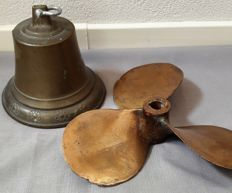 Brass screw and a bronze bell