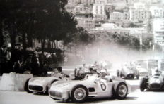 Start Monaco Grand Prix 1955 - Mercedes-Benz W196 Monoposto - #6 Stirling Moss/#2 JM. Fangio