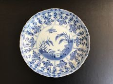 Blue white porcelain plate - China - Kangxi period 17th/18th century
