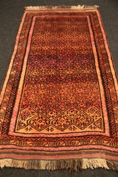 Elegant rug, unusual design, AFGHANISTAN, 20th, 211 x 113 cm, plant-based colours