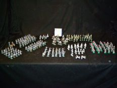 225 x Hinchliffe models tin soldiers and 3x canon