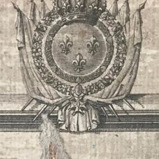 Europe; Johann Christoph Rhode - Royal map of the limits of the three empires with the seal of Louis XVI - 1785