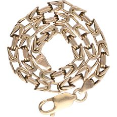 14 kt - Yellow gold king's braid link bracelet - Length:  22.5 cm