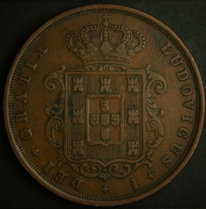 Portugal -- XX Reis -- D. Luís I -- 1873 -- Lisbon -- AG: 06.04 -- Superior Condition