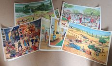 Collection of 17 French school posters