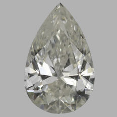 0.50 Carat Pear Brilliant cut Diamond, I SI2   IGI  Serial# - 2221