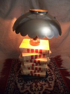 Unique industrial steampunk books lamp - Second half of the 20th century - the Netherlands
