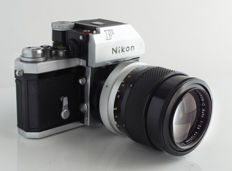 Nikon F chrome Photomic, with Nikkor Q Auto 1:2.8 f=135mm