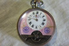 Charming pocketwatch Hebdomas patent - start of the 20th century.