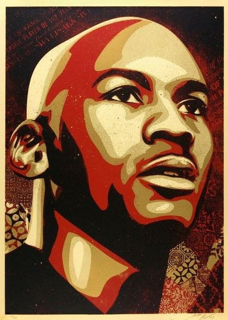 Shepard Fairey (OBEY) - Michael Jordan Hall of Fame Portrait - Large Format