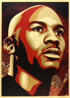 Shepard Fairey (OBEY) - Michael Jordan Hall of Fame