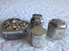 Topaz - Silverplated Boxes /Crystal - Chiselled Design