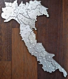 Regions of Italy in silver, 1976