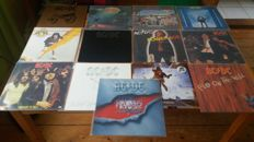 AC/DC their first 13 original records all as mint